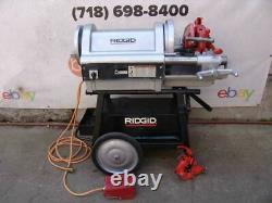 Ridgid 1224 Pipe Threader Threading Machine Works Very Well bg2