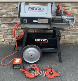 Ridgid 1224 Pipe Threading Machine 2 Die Head 711 714 Rolling Stand AWESOME #2