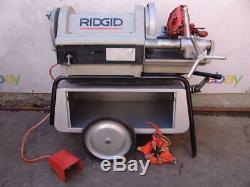 Ridgid 1224 Threader Threading Machine 1/2-4 inch with 2 Dies. Works Great