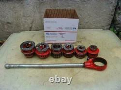 Ridgid 12-R Die Set Pipe Threader Treading Machine 1/2 to 2 inch Great Shape #1