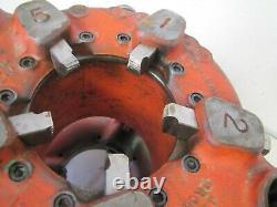 Ridgid 141 Geared Pipe Threader Threading Machine 2-1/2 to 4 GOOD DIES