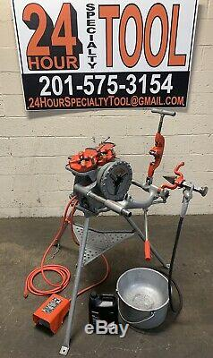 Ridgid 15682 300 Complete Setup 38 RPM Pipe Threading Machine Threader 811a 4
