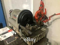 Ridgid 1822-1 Pipe Bolt Threader Threading Machine with Stand and Cart on Wheels