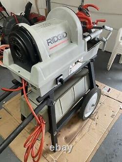 Ridgid 1822-I Auto Chuck Pipe Threader Threading Machine with Cart 300 535 1224