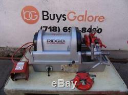 Ridgid 1822 Pipe Threader Threading machine 1/2 to 2 inch 300 535 Works Great
