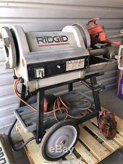 Ridgid 26092 1224 4 Pipe Threading Machine- 1/2 to 4 Pipe Dies & Stand