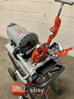 Ridgid 300 Compact Pipe Threading Machine with 250 Stand Threader 535 1224 1215 #1