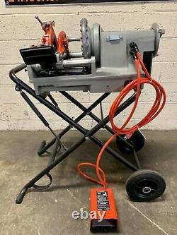 Ridgid 300 Compact Pipe Threading Machine with 250 Stand Threader 535 1224 1215 #3