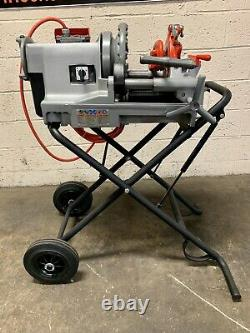 Ridgid 300 Compact Pipe Threading Machine with 250 Stand Threader 535 1224 1215 #4
