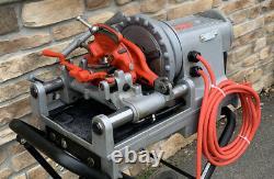 Ridgid 300 Compact Pipe Threading Threader Machine Rigid 250 Stand GREAT SHAPE