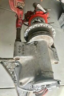 Ridgid 300 Pipe Threader 1/4- 2 Machine Electric With Stand & Oil Pump + Extras