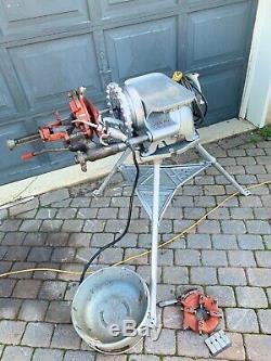 Ridgid 300 Pipe Threader Machine 1/2-2 2 Dies Oiler Tray EXTRA TEETH 535 1224