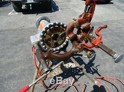Ridgid 300 Pipe Threader Machine with Foot Pedal Tripod Reamer Threader Die Head