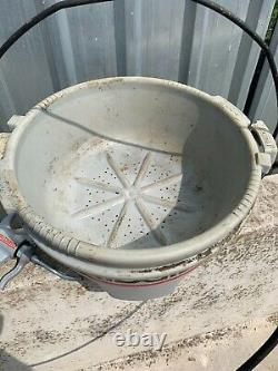 Ridgid 300 Pipe Threader Threading Machine Oil Bucket & Pump