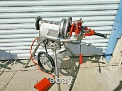 Ridgid 300 Pipe Threader Threading Machine with Tristand & Foot Pedal