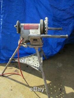 Ridgid 300 Pipe Threading Machine & 1206 Stand Works Great