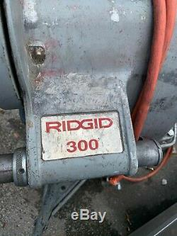 Ridgid 300 Pipe Threading Machine Power head, With Speed Chuck & Stand