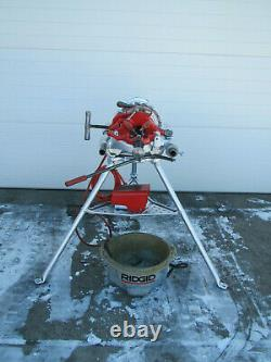 Ridgid 300 Power Pipe Threader with Complete Carriage Threading Machine Used #2