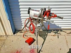 Ridgid 300-T2 Pipe Threader Threading Machine with Tristand & Foot Pedal