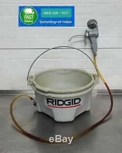 Ridgid 418 Handheld Oiler Bucket for 300 700 Threading Machine with Gun #1