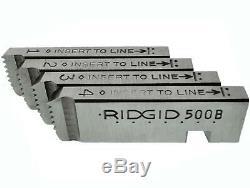 Ridgid 500B Bolt Die Head & New Dies for Pipe Threading Machine 300 535 1822