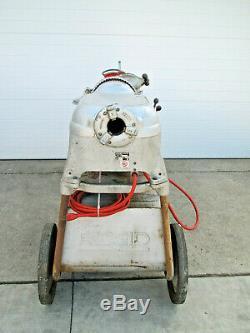 Ridgid 535 1/2 2 Electric Pipe Threader Threading Machine with Cart Used