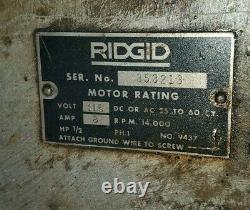 Ridgid #535 Pipe Threader 1/2'' 2'' Capacity with2x Die Heads and Dies on Stand
