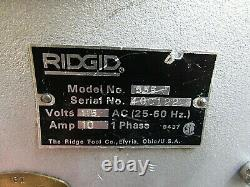 Ridgid 535 Pipe Threader Machine 115v 1ph With 2 Die Holders And Foot Pedal