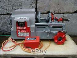 Ridgid 535 Pipe Threader Machine 1/2 2 Inch Works Great Comes With 2 811 Dies
