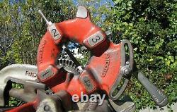 Ridgid 535 Pipe Threader Threading Machine 1/8 to 2 with Wheeled Cart