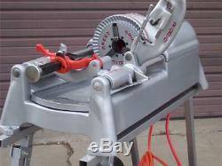 Ridgid 535 Pipe Threader Threading Machine 2 New Cart Two Die Heads 96497 93287
