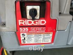 Ridgid 535 Pipe Threading Machine/ Pipe Threader 115 V (2) -free Shipping