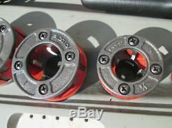 Ridgid 600 Pipe Threader Threading Machine With Dies 1 1/4 1 3/4 1/2