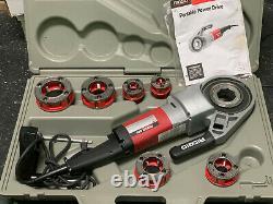 Ridgid 690 Power Drive 1/2-2 Hand Held Pipe Threading Machine with 6 Dies