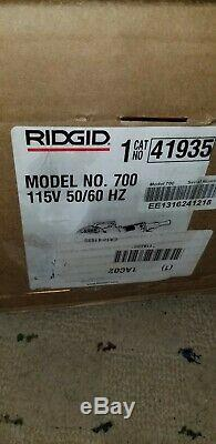 Ridgid 700 115 Volt 41935 Power Drive Hand Held Pipe Threader Machine NEW