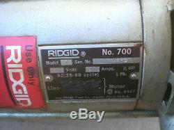 Ridgid 700 Electric Handheld PipeThreading Machine