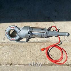 Ridgid 700 Pipe Threader T2 Electric Handheld Machine With Die Heads & Case