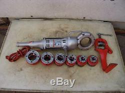 Ridgid 700 Pipe Threader Threading Machine 12R Die Set 1/2 to 2 inches & Vise