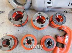 Ridgid 700 Pipe Threader Threading Machine With 6 Dies 1/2 To 2 Cutter Reamer