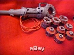 Ridgid 700 Pipe Threading Machine With 8 Dies. It Works Great