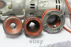 Ridgid 700 Portable Pipe Threader Machine Power Drive plus 3 Dies and 1 Adapter