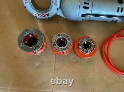 Ridgid 700 Portable Pipe Threader Machine with 3 Dies Sizes 3/4, 1, 1-1/2