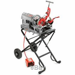 Ridgid 75602 52 RPM 300 Compact Pipe Threading Machine with 250 stand