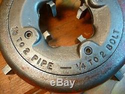 Ridgid Universal Die Head For Pipe Threading Machine 300 Pipe 1/8 2 Pipe