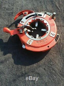 Ridgid threading machine pipe 1/8-2 Pipe 1/2-2 Bolt. Die head pipe tools taps
