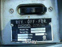 Rigid 300 Pipe Threader, Reamer, Cutter, Dies, Foot Switch
