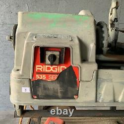 Rigid 535 Series1/8 to 2 Manual Pipe Threader Chuck Machine WithCart Included! (3)
