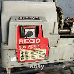 Rigid 535 Series1/8 to 2 Manual Pipe Threader Chuck Machine With Cart Included