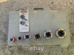 Rigid 690 110v Pipe Threader Machine + Support Arm, Case, Dies 1/2-2 Threading
