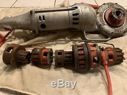 Rigid Model 700 electric pipe threader machine with accessories/attachments